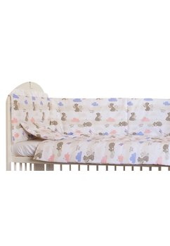 Set 2 aparatori, Mama Bear roz, 180 x 30 cm