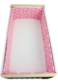 Set 2 aparatori, norisori si stelute, roz, 120x60cm