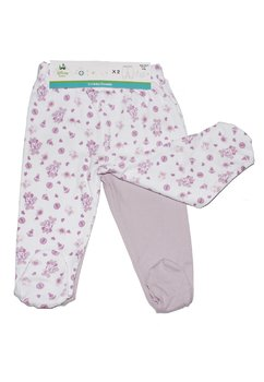 Set 2 pantaloni bebe, Minnie, mov