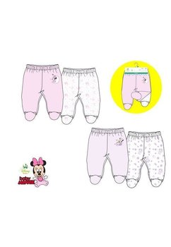 Set 2 pantaloni bebe, Minnie, roz