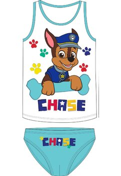 Set 2 piese, Chase, albastru cu alb