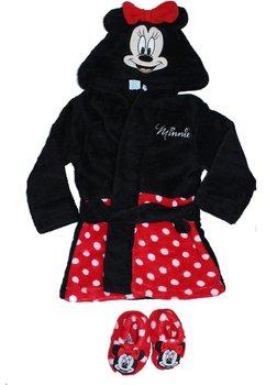 Set 2 piese, halat de baie si papuci de camera, Minnie Mouse, rosu