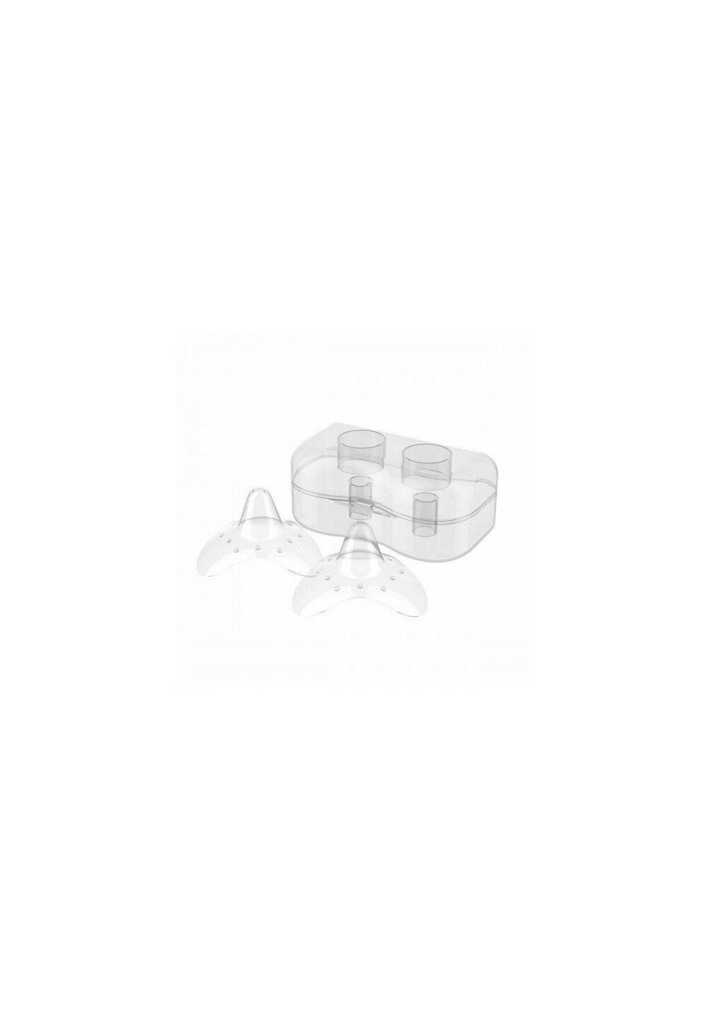 Set 2 protectii silicon pentru san, 24mm imagine
