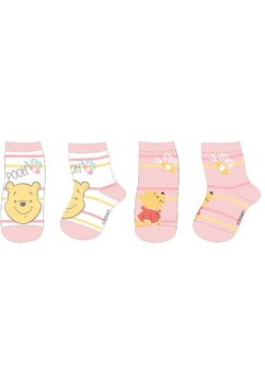 Set 2 sosete, Winnie the Pooh, roz si alb