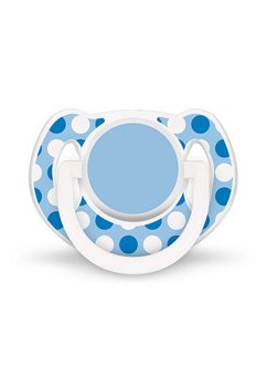 Set 2 suzete, albastru cu alb, 6-18 luni