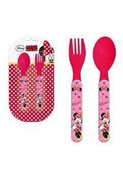 Set 2 tacamuri de plastic, Minnie Mouse, rosu
