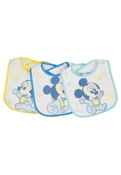 Set 3 bavete, bebe Mickey, 0-6 luni