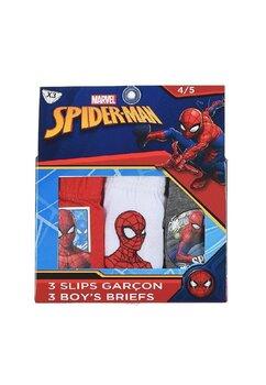Set 3 chiloti, Spider Man, rosu, alb si gri
