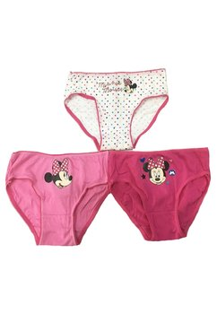 Set 3 perechi de chiloti, Minnie Mouse, roz