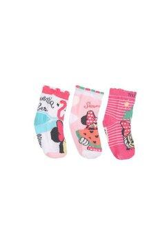 Set 3 sosete bebe, Minnie, Summer love, roz