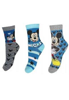 Set 3 sosete, Mickey Mouse, albastre