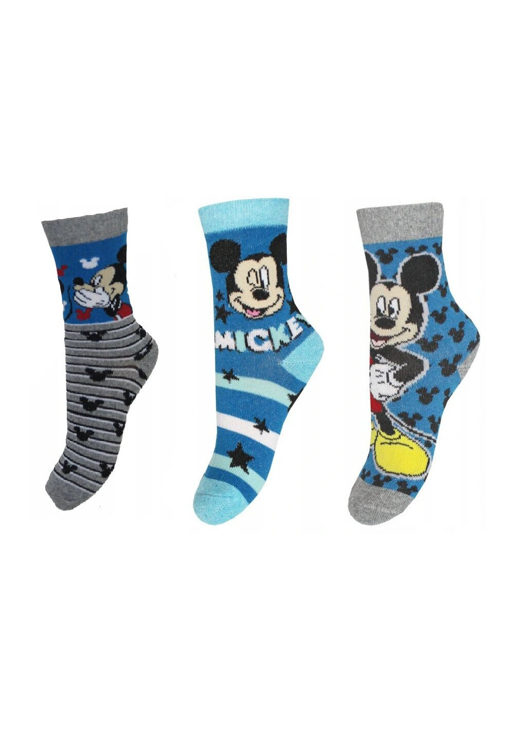 Set 3 sosete, Mickey Mouse, albastre imagine