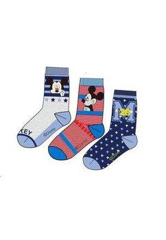 Set 3 sosete, Mickey Mouse, albastru cu stelute