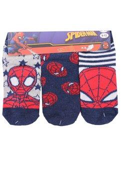 Set 3 sosete, Spider Man, bluemarin cu gri
