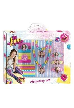 Set accesorii, agrafe, elastice, lant si bratara, Luna, 18 piese