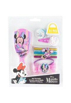 Set accesorii par, 11 piese, Minnie roz