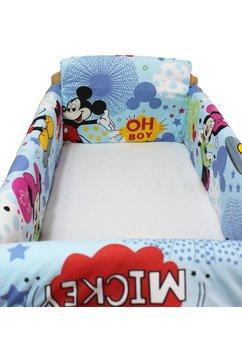 Set aparatoare patut, Maxi, Minnie si Mickey, albastru, 120x60cm
