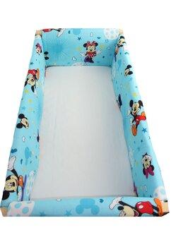 Set aparatori patut, Maxi, Minnie si Mickey, albastru cu stelute, 120x60cm