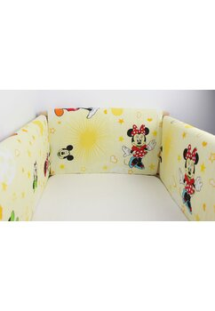 Set aparatori patut, Maxi, Minnie si Mickey, galben, 120x60cm
