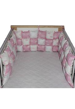 Set aparatori pufoase, coronite roz, 3 x 60 cm