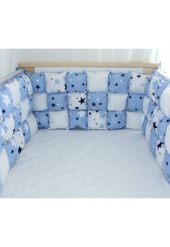 Set aparatori pufoase, stelute, albastre, 3 x 60 cm