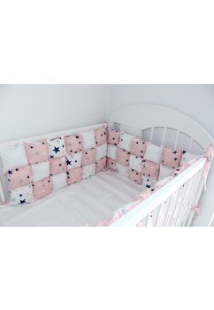 Set aparatori pufoase, stelute, roz, 3 x 60 cm