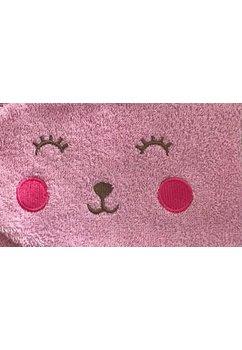 Set baie, prosop si manusa, roz