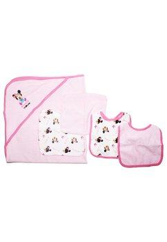 Set bebe Minnie, 5 piese, roz