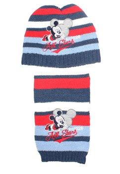 Set caciula+fular, Mickey Mouse, ivory