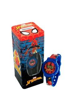 Set ceas digital si pusculita, Spider Man, albastru