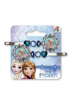Set doua agrafe, Elsa, inimioare albastre