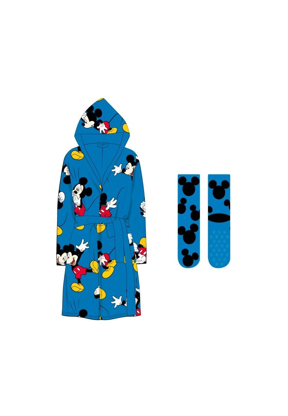 Set Halat Si Ciorapi, Albastru, Mickey Mouse