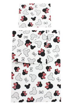 Set lenjerie, Prichindel, flanel, 3 piese, Minnie si Mickey,120x60 cm