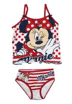 Set maieu+chilot alb, Minnie Mouse