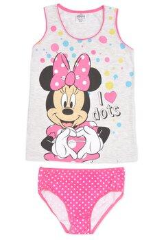 Set maieu+chilot, Minnie Mouse.roz cu buline
