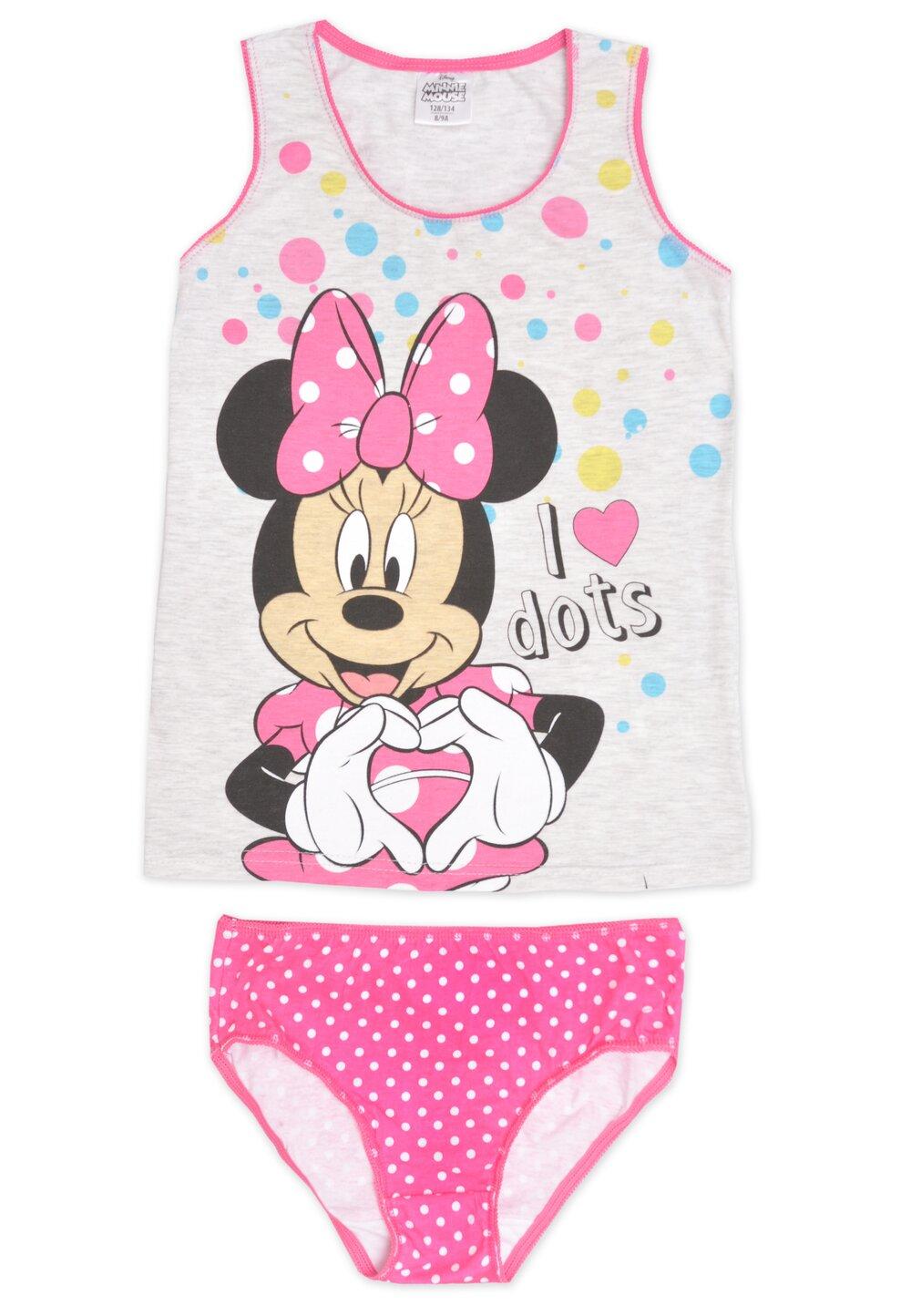 Set maieu+chilot, Minnie Mouse.roz cu buline imagine