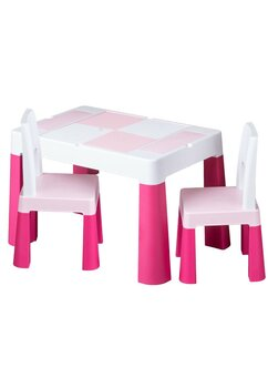 Set masuta cu scaunele, roz