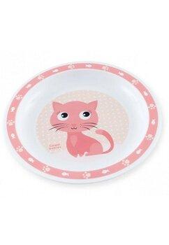 Set mic dejun, roz cu pisicuta, +12 luni