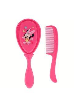 Set perie si piaptan, Baby Minnie Mouse, roz