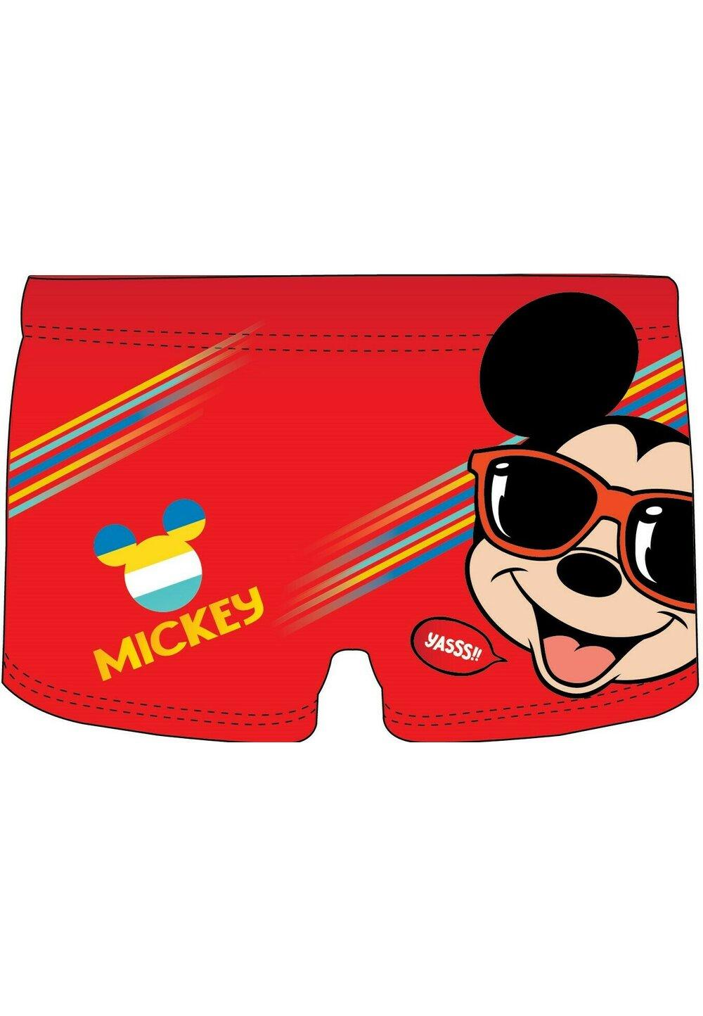 Slip de baie, Mickey cu ochelari de soare, rosu imagine