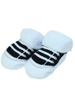 Sosete bebe, alb cu negru