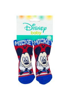 Sosete bebe, Mickey, albastru cu rosu