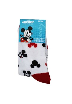 Sosete Mickey, albe cu figurine