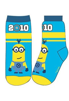 Sosete,Minion 2010, albastru cu galben
