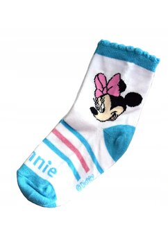 Sosete, Minnie Mouse, albastre cu dungi roz