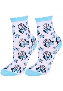 Sosete, Minnie be happy, albe cu stelute albastre