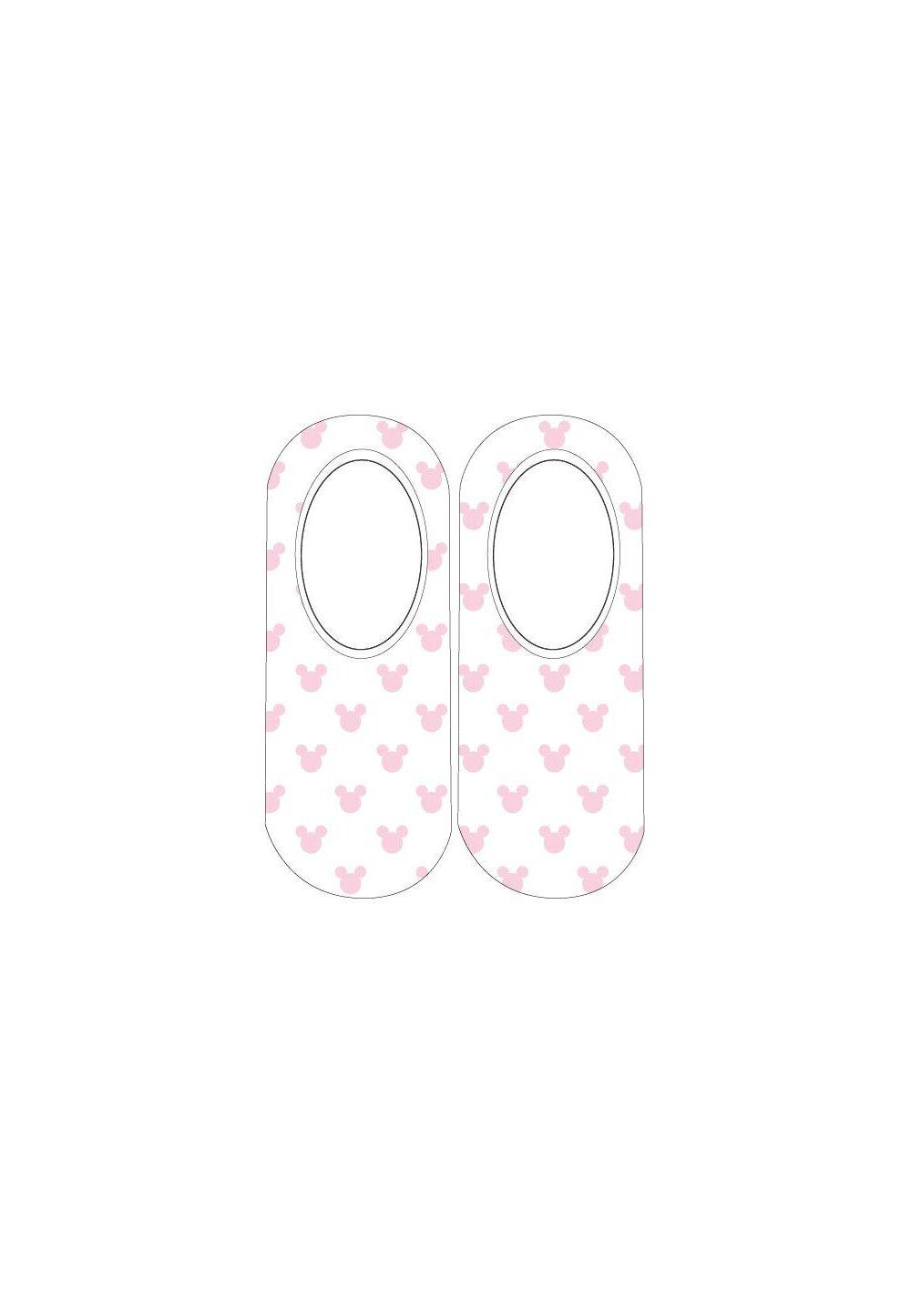 Sosete scurte, figurine Minnie, alb cu roz imagine