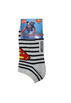 Sosete scurte, Superman, gri cu dungi negre