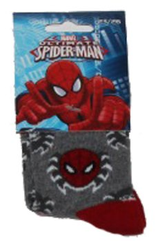 Sosete Spiderman Gri cu rosu