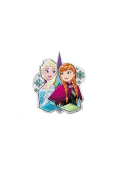Sticker de perete cu led, Anna si Elsa